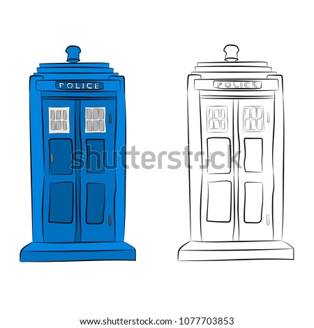 the police box contour drawing