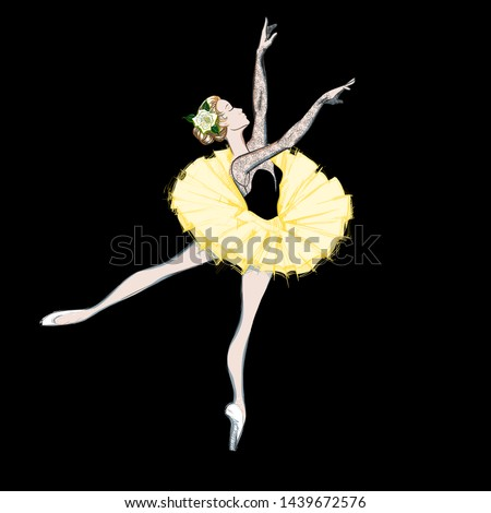the portrait of a ballerina a
