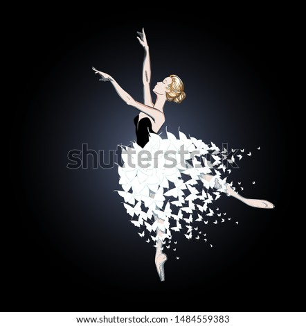 the portrait of a ballerina in