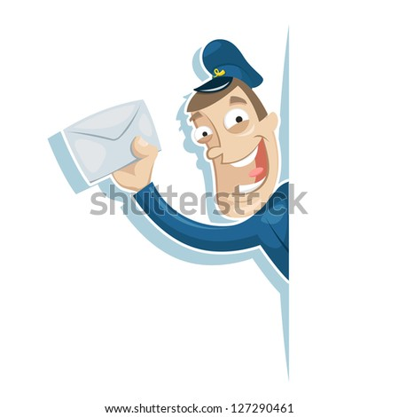 The postman brought the letter