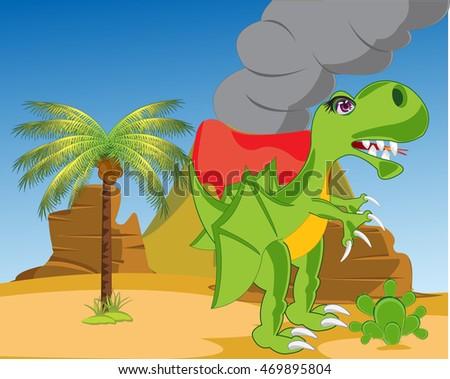 the prehistorical dinosaur in