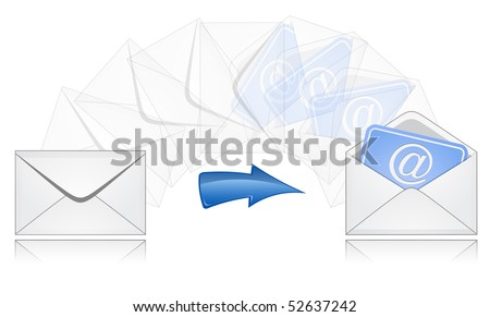 The process of mail sending. E-mail.