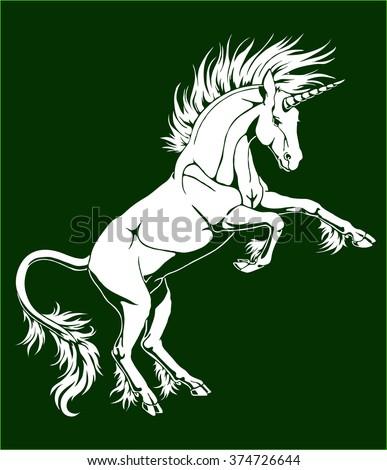 the proud white unicorn who got