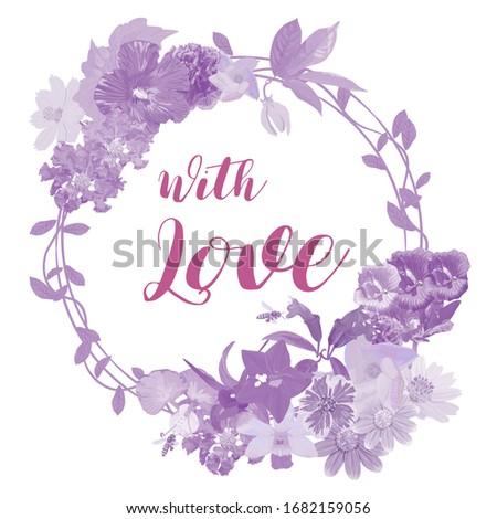 the purple tone garland of