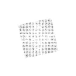 The puzzle symbol filled with black dots. Pointillism style. Vector illustration on white background