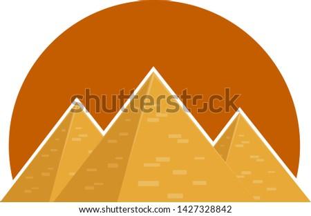 The Pyramids. Egyptian pyramids. Vector illustration of the pyramids.