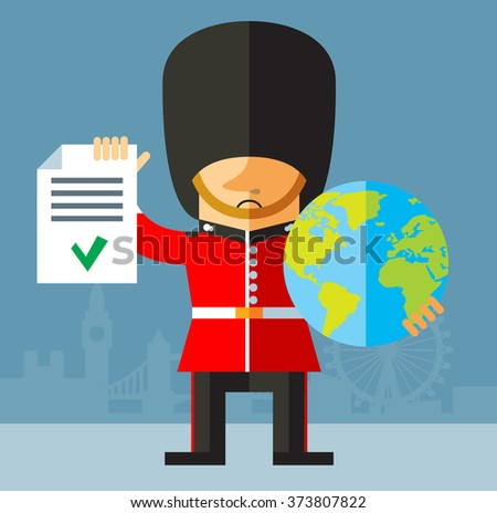the queen's guard holding a
