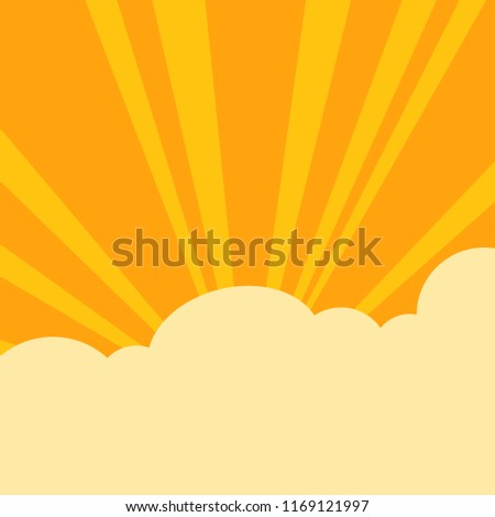 the radiance of sun and clouds