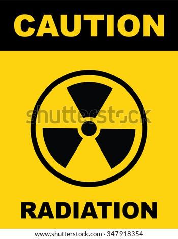 The radiation icon . Radiation symbol . Vector illustration