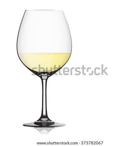 the realistic clear wine glass