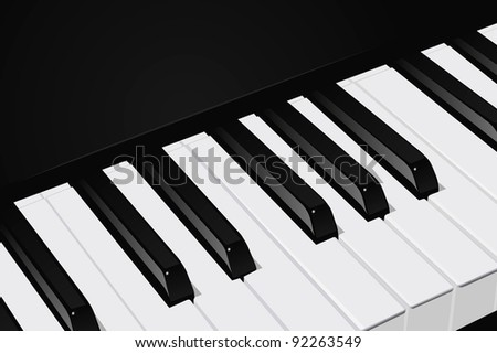 The realistic vector image a piano key