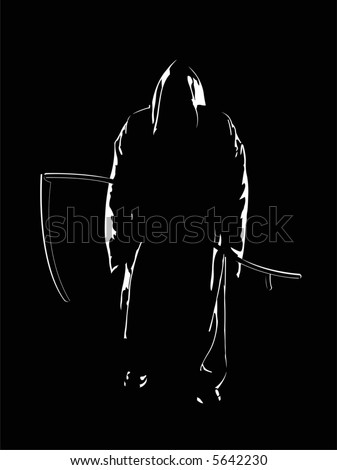 The reaper of souls. A vector illustration.