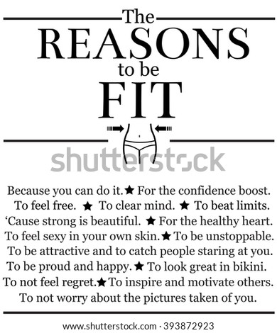 the reasons to be fit