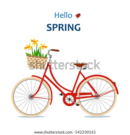 the red bike with daffodils....
