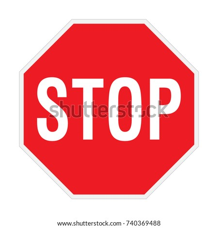 The red stop sign, vector sign