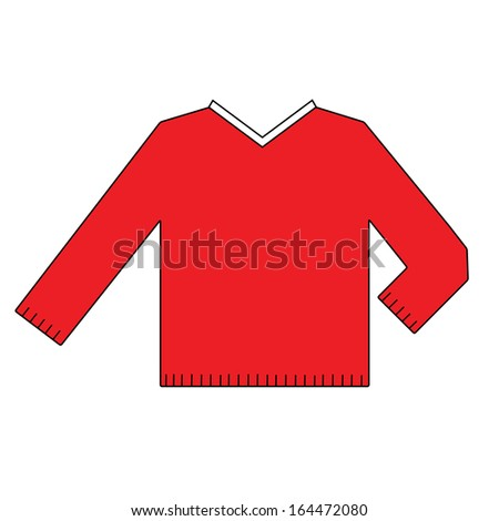 the red Sweater symbol on the white background