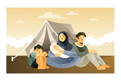 The Refugee Family Life in the Refugee Camp