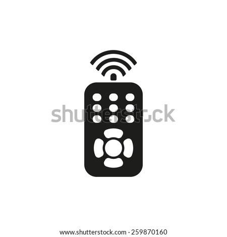The remote control icon.symbol. Flat Vector illustration