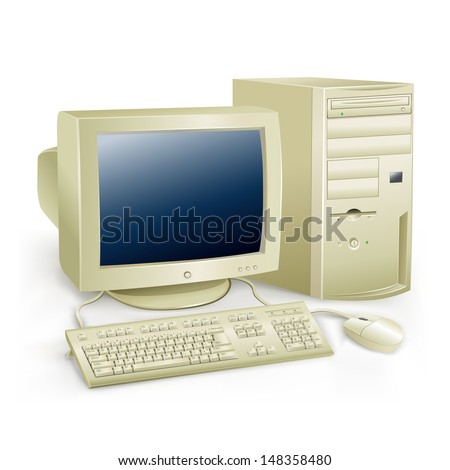 the retro desktop white