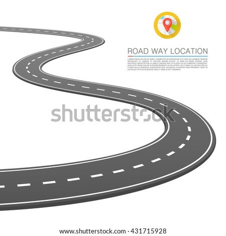 The road goes into the horizon, Vector illustration