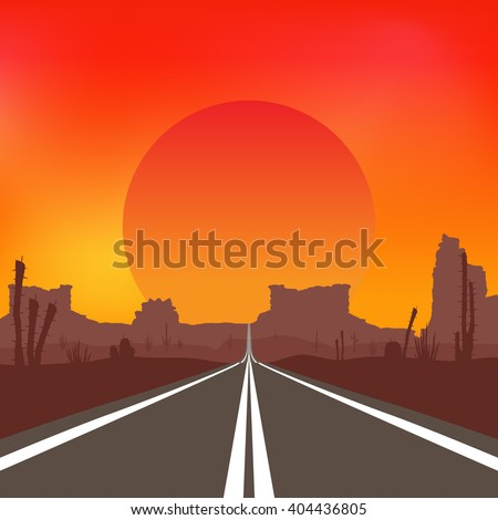 the road in the desert at