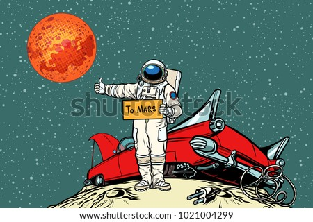 the road to mars car broke