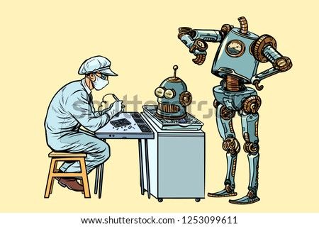 the robot came to repair the