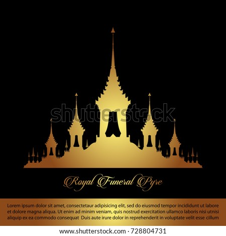 The Royal Funeral Pyre .Rama 9 of Thailand King