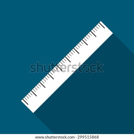 The ruler icon. Ruler symbol. Flat. Vector illustration.