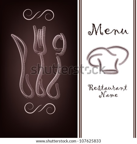 The sample of the menu of restaurant