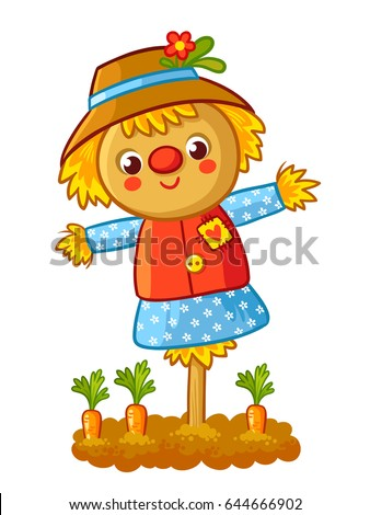the scarecrow is standing in a