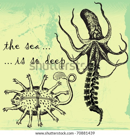the sea is so deep - the sea monsters