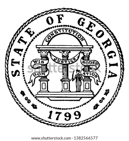 the seal of the state of