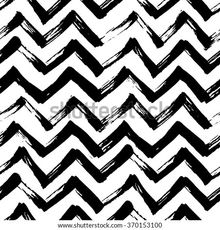 stock-vector-the-seamless-black-and-white-zigzag-pattern-with-brush-strokes-the-creative-monochrome-hand-drawn