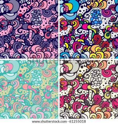 the set of crazy seamless patterns