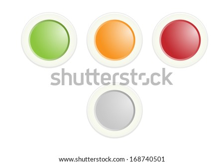 The set of green, orange and red radio buttons / Radio button set / Radio button