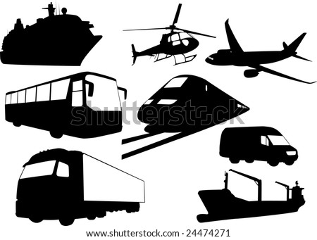 The set of vector transport silhouettes