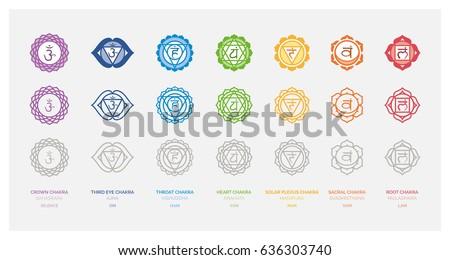 the seven chakras set  their