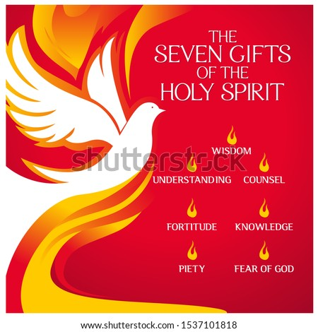 The Seven Gifts of the holy spirit vector illustration Foto stock ©