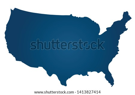The shape of the United States territory. Vector illustration.