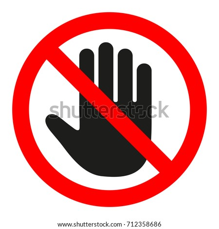 the sign of the stop. the hand in the red circle. Stockfoto ©