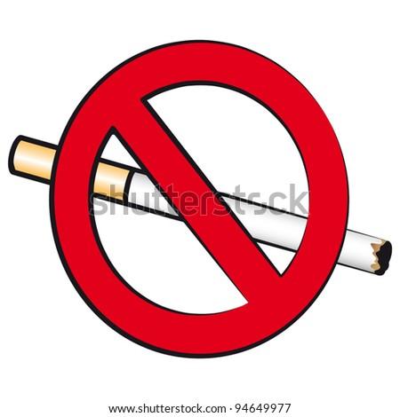The sign prohibiting smoking
