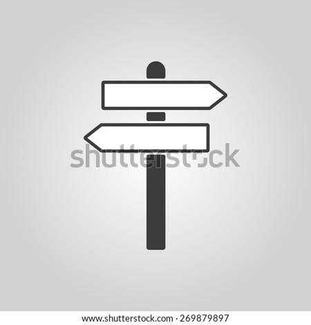 The signpost icon. Pointer symbol. Flat Vector illustration