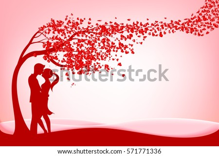 the silhouette couple under