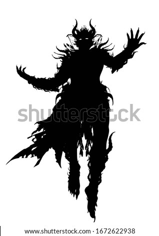 the silhouette of a demon