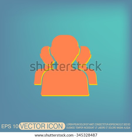 the silhouette of a men, social media icon