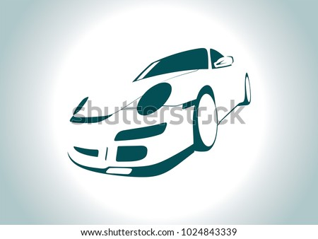 the silhouette of a sports car