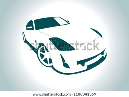 the silhouette of the car