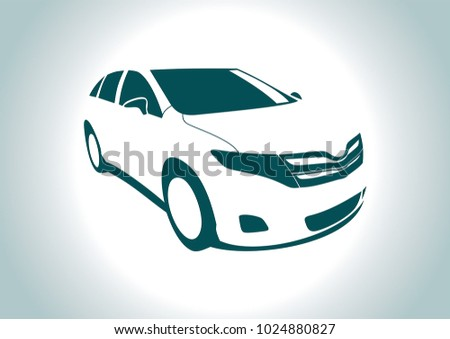 the silhouette of the car. Toyota.