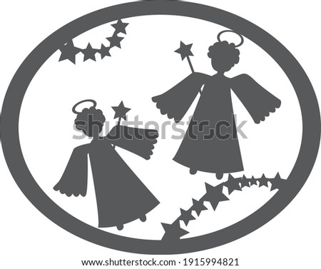 the silhouette of the christmas
